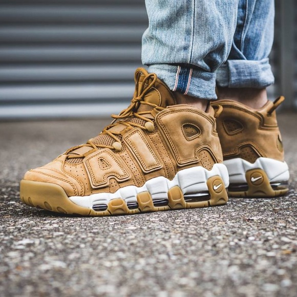 Nike Shoes | Nike Air More Uptempo Flax